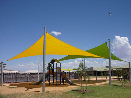 Shade sails in Perth, a use of our coverage protection liners